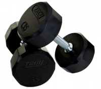 Image of Troy 12 Sided Rubber Encased Dumbbells