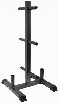Image of Vertical Olympic Bumper Plate and Bar Rack  GOPT